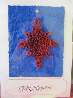 Felicita la Navidad a tus seres queridos con esta postal-adorno. La estrella puede separarse fácilmente y colocarla en el lugar elegido. Sólo 3€