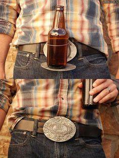 Beer (or drink) holder - belt