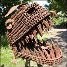 Large metal sculpture from found metal objects  -  odditycentral.com