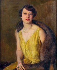 """Arturo Noci """"Ritratto di signora"""", 1929  Negli anni della Secessione romana, Arturo Noci si affermò come ritrattista tra i più acclamati d'Italia. Dopo la Prima guerra mondiale si trasferì negli Stati Uniti, dove continuò la sua attività di ritrattista dell'alta borghesia per circa trent'anni."""
