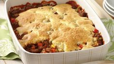 Love cheddar topped hamburgers? Try this tasty one-dish dinner bake.