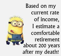 #LOL: Funny Minion Joke About Income vs. Retirement