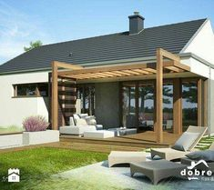 The pergola kits are the easiest and quickest way to build a garden pergola. There are lots of do it yourself pergola kits available to you so that anyone could easily put them together to construct a new structure at their backyard. Diy Pergola, Pergola Carport, Modern Pergola, Deck With Pergola, Cheap Pergola, Outdoor Pergola, Covered Pergola, Patio Roof, Pergola Kits