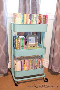Enlist an inexpensive Ikea Raskog cart to contain children's books.