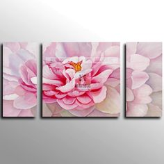 ABSTRACT HUGE peony CANVAS ART OIL PAINTING 3 panel wall art,home decor art wall paper-in Painting & Calligraphy from Home & Garden on Aliex...