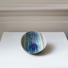 Blue Reflection Bowl Small Thought Bubbles, Some Times, Ceramic Artists, Contemporary Jewellery, Sculpture Art, Screen Printing, Reflection, Fine Jewelry, How To Apply