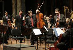 La Orquesta Filarmónica de la Ciudad de México dio un concierto en el Palacio de Bellas Artes con el Cuarteto La Catrina  Foto: Abril Cabrera A.