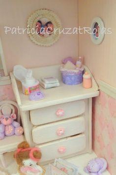 Patricia Cruzat Artesania y Color: Dormitorio Bebé Niña para Marta