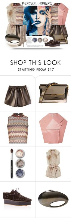 """""""Winter to Spring"""" by alevalepra ❤ liked on Polyvore featuring Marni, Glamorous, Anja, Delpozo, Bare Escentuals, Chanel, Stuart Weitzman and Wintertospring"""