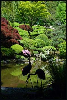 Portland Japanese Gardens - Photo Credit: Oregon Historical County Records Guide