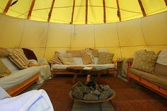 Inside the Tipi