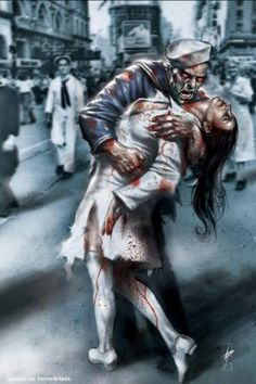 Zombie love, stands the test of death.