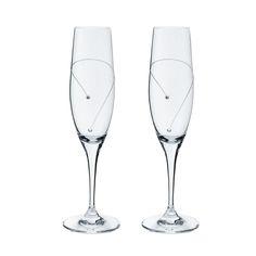 Ποτήρι σαμπάνιας με χειροποίητο σκάλισμα και στρας Flute, Champagne, Tableware, Dinnerware, Tablewares, Flutes, Dishes, Tin Whistle, Place Settings