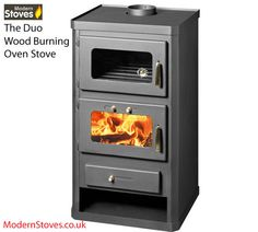 Wood Burning Multifuel Stove & Oven Cooker with Back Boiler for Central Heating