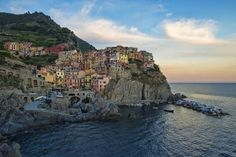 Manarola, Italy, is a hamlet in the town of Riomaggiore in Liguria, Italy. This is one of the areas that are the Cinque Terre Royal Caribbean, Cinque Terre Italia, The Places Youll Go, Places To See, Riomaggiore, Destination Voyage, Hiking Trails, Day Trip, Belle Photo