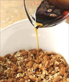 Coconut Oil Granola + Alton Brown Granola = perfect recipe
