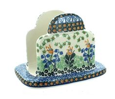 Polish Pottery Lily of the Valley Napkin Holder Blue Rose Pottery http://www.amazon.com/dp/B00NQD8H3A/ref=cm_sw_r_pi_dp_Phpmvb1Z4TDVP