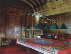 billiard room at Waddeson Manor