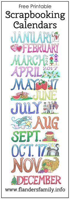 This fun calendar is