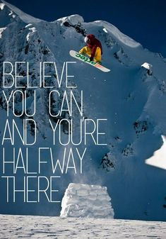 Talent /& Hard Work  Snow Boarder Motivational    POSTER