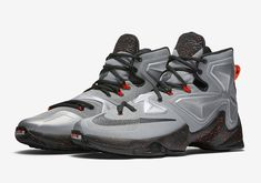 5b70a686f7 NIKE LEBRON XIII 13 Shoes Grey Black Orange Nike Clearance, Official Shoes,  Basketball Sneakers