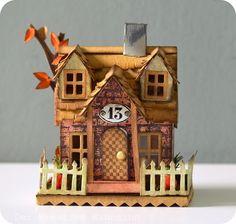 Vor einer Weile ist die Village Stanzschablone von Tim Holtz   bei mir eingezogen :) Diese kleinen Häuschen finde ich super!   Am Wochene...