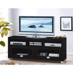 Durbin Cappuccino TV Stand, for TVs up to 55""