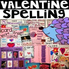 Valentine Spelling by Bobbi Bates Valentines Day Book, Valentine Words, Hands On Activities, Writing Activities, Holiday Activities, Teaching Resources, Word Web, Word Poster, Making Words