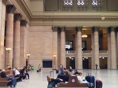 Cathy Inboden captures the happenings of Chicago Union Station while waiting for her train.
