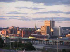 Uptown Saint John, New Brunswick skyline! Happy Valley Goose Bay, Irish English, New Brunswick Canada, Discover Canada, Atlantic Canada, Saint John, Prince Edward Island, Newfoundland, East Coast