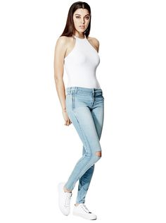 d4b0a915d37 Isabel Mid-Rise Curvy Skinny Jeans in Action Wash
