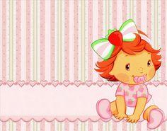 Ideas y material gratis para fiestas y celebraciones Oh My Fiesta!: Imprimibles de Strawberry Shortcake Bebé.