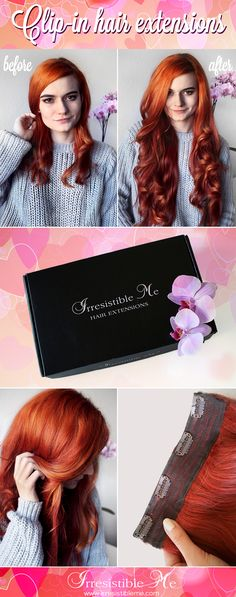 Make a dramatic hairstyle change with Irresistible Me 100% human Remy clip-in hair extensions. You can add length and volume in a matter of minutes and you get to choose the color, length and weight. Also try our wigs, ponytails, fantastic hair tools and hair care. Big Valentine's Day SALE on site between January 25th - February 8th