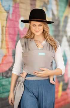 Carry your baby comfortably with the original wrap carrier from Moby! These classic wraps are easy to use & come in a rainbow of colors like black Moby Wrap, Ergonomic Baby Carrier, Petunia Pickle Bottom, Grey Stone, Baby Grows, Baby Wearing, Cotton Fabric, Plus Size, Classic