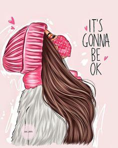 Ardell Lashes Styles, Cartoon Art, Cute Cartoon, Its Gonna Be Ok, Illustration Artists, Tee Design, Girl Boss, Cute Art, Disney Princess