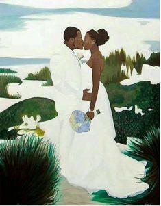 Black Art African American Loving Couple Wedding Day I just Loveeee this image it speaks volumes Black Love Art, Black Girl Art, My Black Is Beautiful, Art Girl, African American Art, African Art, Arte Black, Natural Hair Art, Art Africain