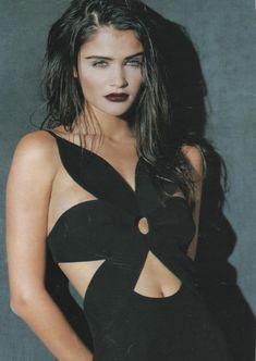 """Decoupes Fatales"", Elle France, May 1991Photographer: NadirModel: Helena Christensen"
