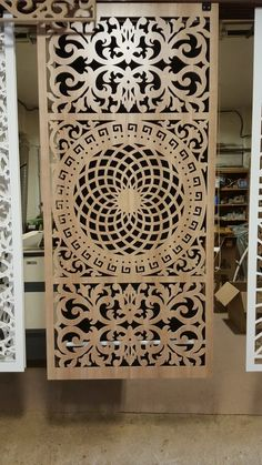 Ahşap Cnc İşleme | Bursa Site Mobilya Steel Gate Design, Main Gate Design, Door Gate Design, Screen Design, Home Window Grill Design, Decorative Screen Panels, Jaali Design, Cnc Cutting Design, Pooja Room Door Design