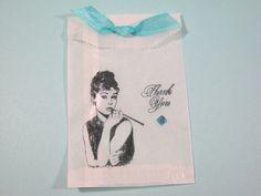 10 Audrey Hepburn Glassine Favor Bags Wedding Favors by Parischick