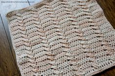 Stitch Story Crochet Along   Design 10 – Cabled Ropes - Large Block