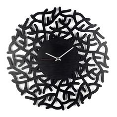 Coral - By Enrico Albertini - Get lost at sea with this mesmerizing wall clock. The stark grey finish on the soft wooden canvas gives this clock a distinctive look that will pop anywhere in your home. The swirly, weaving arms of coral are intricately carved and the sturdy craftsmanship shines through in this organic Albertini design.
