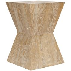 @Overstock.com - Safavieh Bali Sugkai Wood Side Table - Add an earthy touch to modern decor with a geometric wood side table. The table is constructed from sugkai wood with a light teak finish, in a functional geometric shape that is both sturdy and stylish. This table will blend with a variety of styles.   http://www.overstock.com/Home-Garden/Safavieh-Bali-Sugkai-Wood-Side-Table/6372915/product.html?CID=214117 $128.13