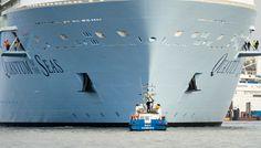 Little boat, big ship. #quantumoftheseas