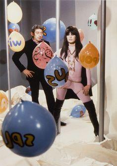 "Brigitte Bardot & Serge Gainsbourg shooting the ""Comic Strip"" music video (1967)"