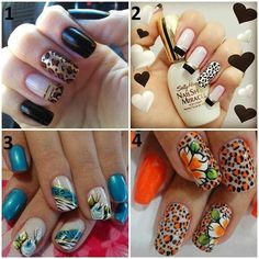 4 different nails designs