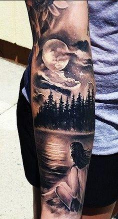 """Enjoying The View"" Arm Tattoo More"