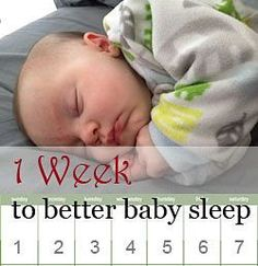 One week program for baby sleep training