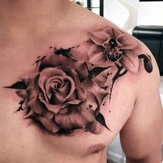 21 Best Rose Chest Tattoo Images Rose Chest Tattoo Awesome