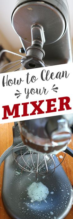 From kneading homemade bread to mashing potatoes, stand mixers are a cook's best friend, but they can quickly get grimy without proper care. To keep it in good working order, it's important to give your entire mixer a good cleaning after every few uses, Household Cleaning Tips, Household Cleaners, Diy Cleaners, Cleaning Recipes, Cleaners Homemade, House Cleaning Tips, Cleaning Hacks, Cleaning Supplies, Grill Cleaning