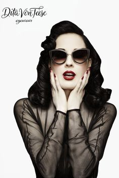 The Dita Von Teese Eyewear Collection is Inspired by Vintage Fashion #hollywood #hair trendhunter.com